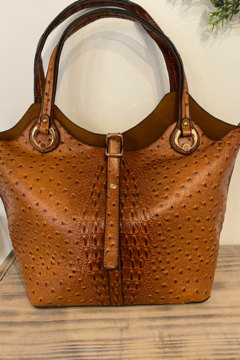 Shoptiques Product: Ostrich Inspired Handbag