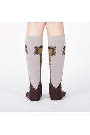 Sock it to me Ostrich Knee High Socks - Junior & Youth - Front full body