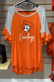 Gameday Couture OSU Down the Line Ruffle Sleeve - Product Mini Image