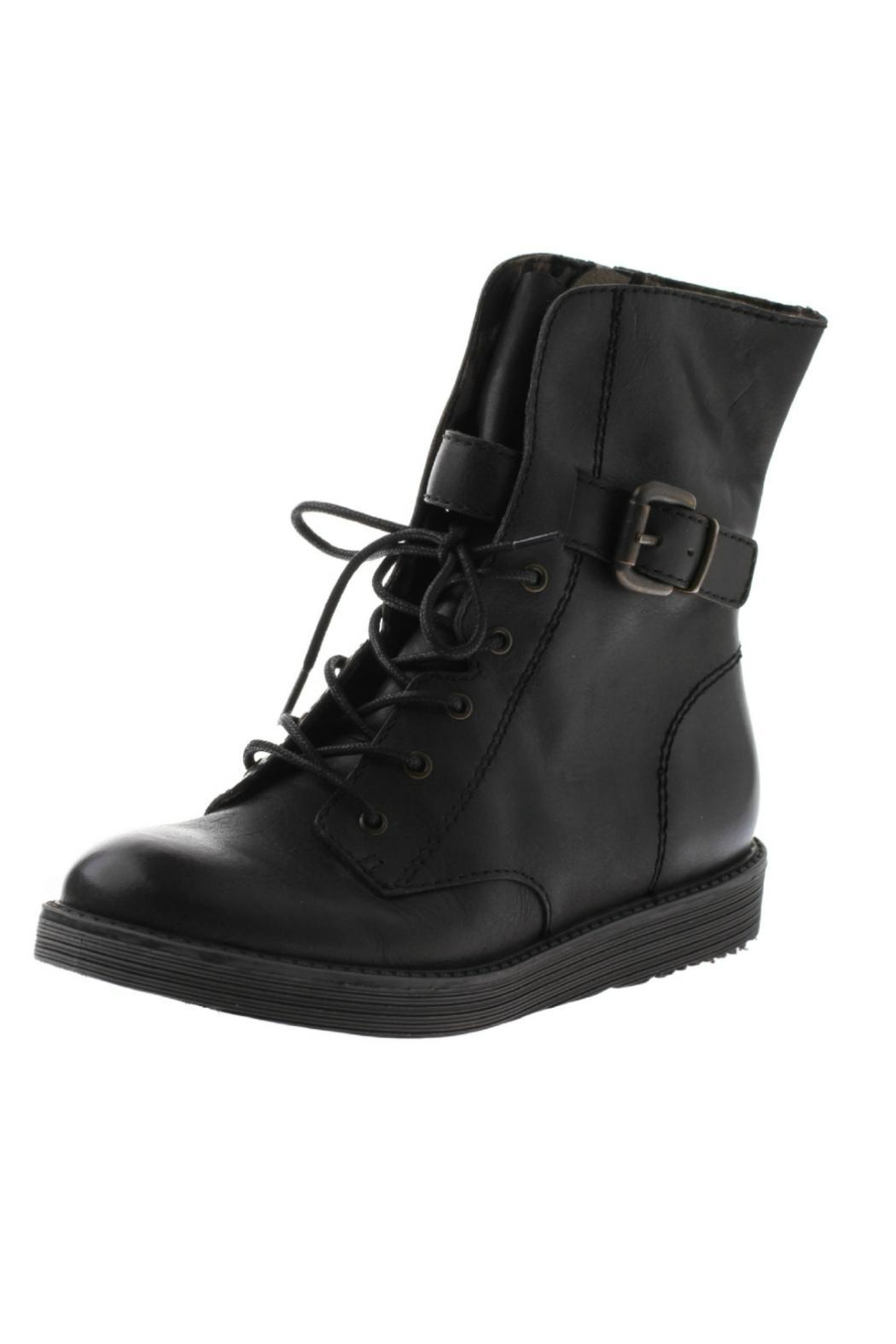 OTBT Black Combat Boot - Front Cropped Image