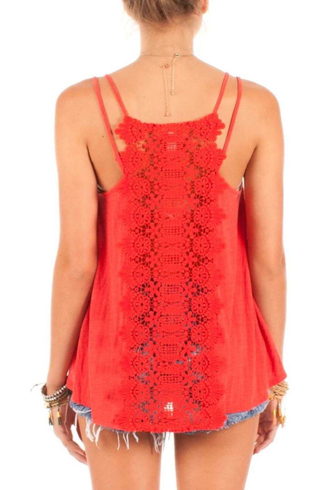 Other's Follow Lace Back Tank - Side Cropped Image