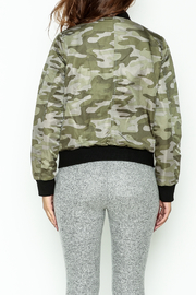 Others Follow  Camo Bomber Jacket - Back cropped