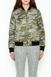 Others Follow  Camo Bomber Jacket - Front full body