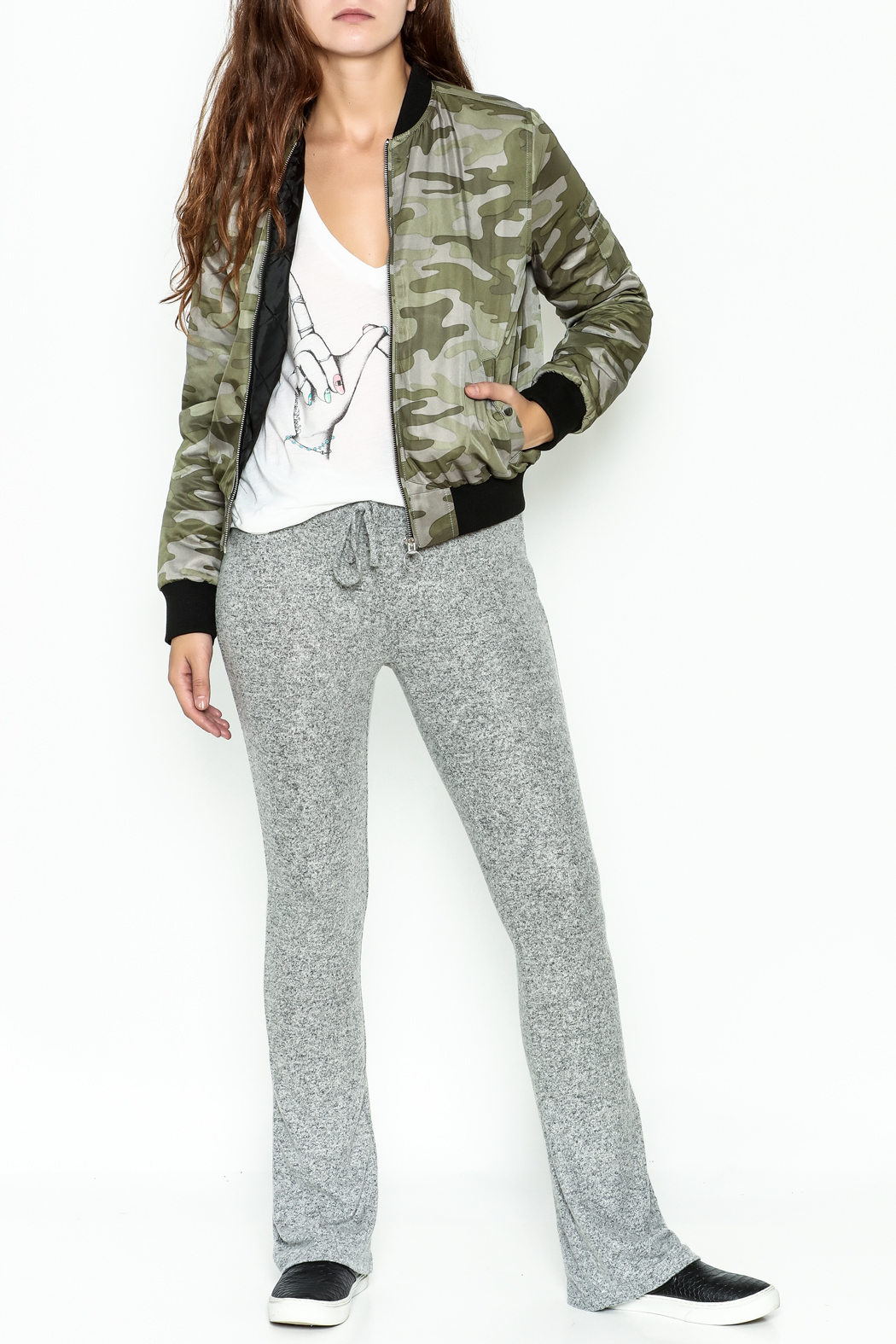 Others Follow  Camo Bomber Jacket - Side Cropped Image