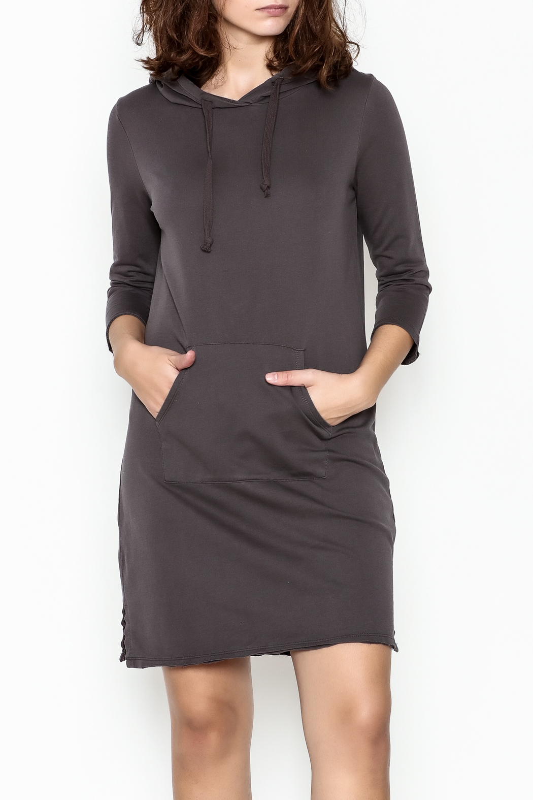 Others Follow  Hooded Pocket Tunic Dress - Front Cropped Image