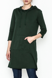 Others Follow  Hooded Pocket Tunic Dress - Front cropped