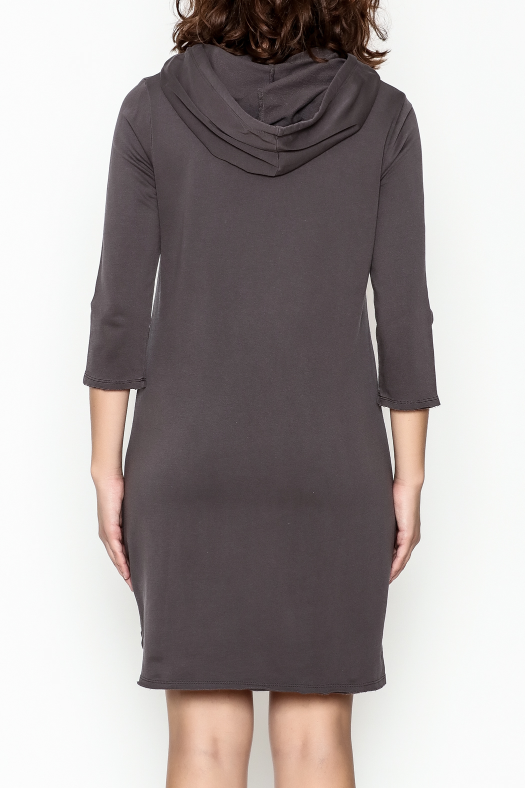 Others Follow  Hooded Pocket Tunic Dress - Back Cropped Image