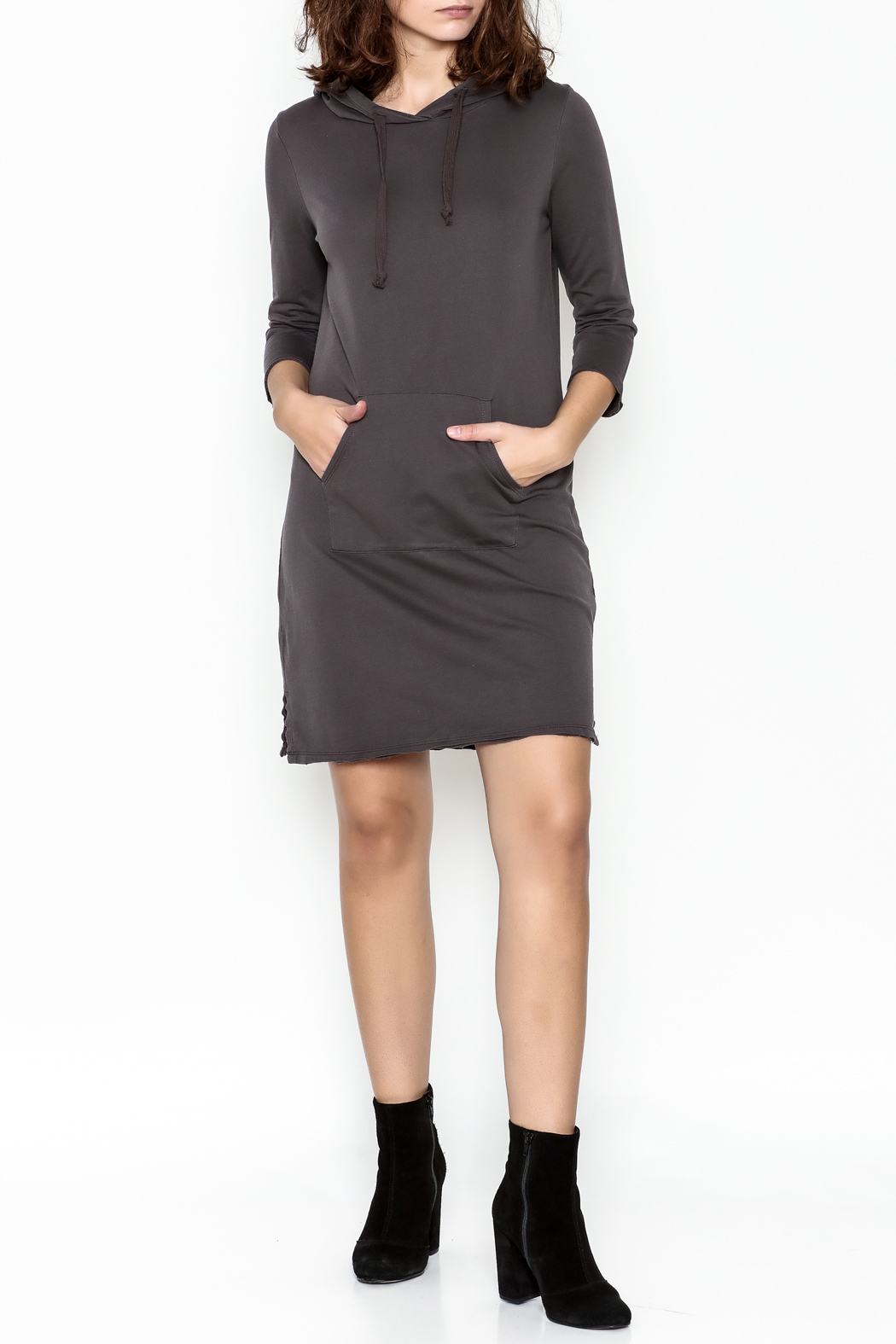 Others Follow  Hooded Pocket Tunic Dress - Side Cropped Image