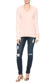 Others Follow  Pink Jordana Hoodie - Front full body