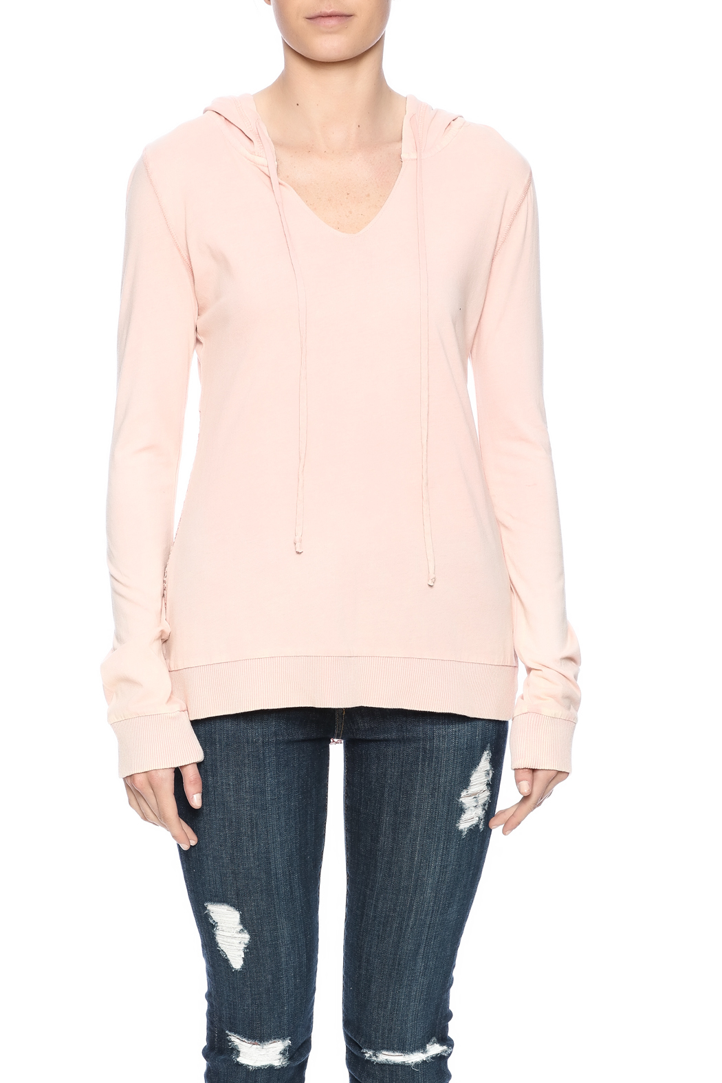 Others Follow  Pink Jordana Hoodie - Side Cropped Image