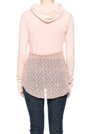 Others Follow  Pink Jordana Hoodie - Back cropped