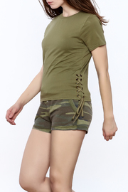 Others Follow  Side Lace-Up Tee - Product Mini Image