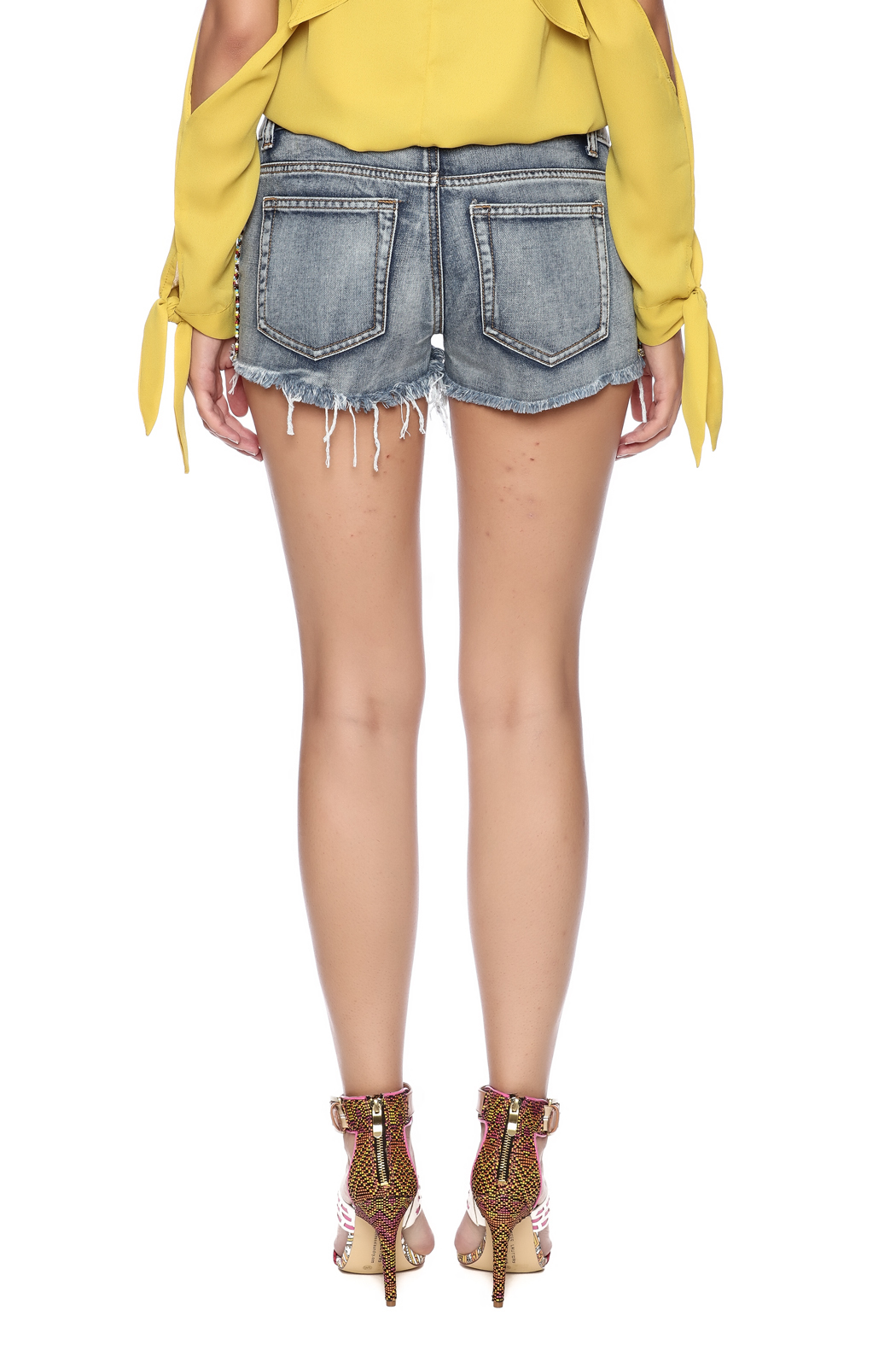 Others Follow  Willow Cut Off Shorts - Back Cropped Image