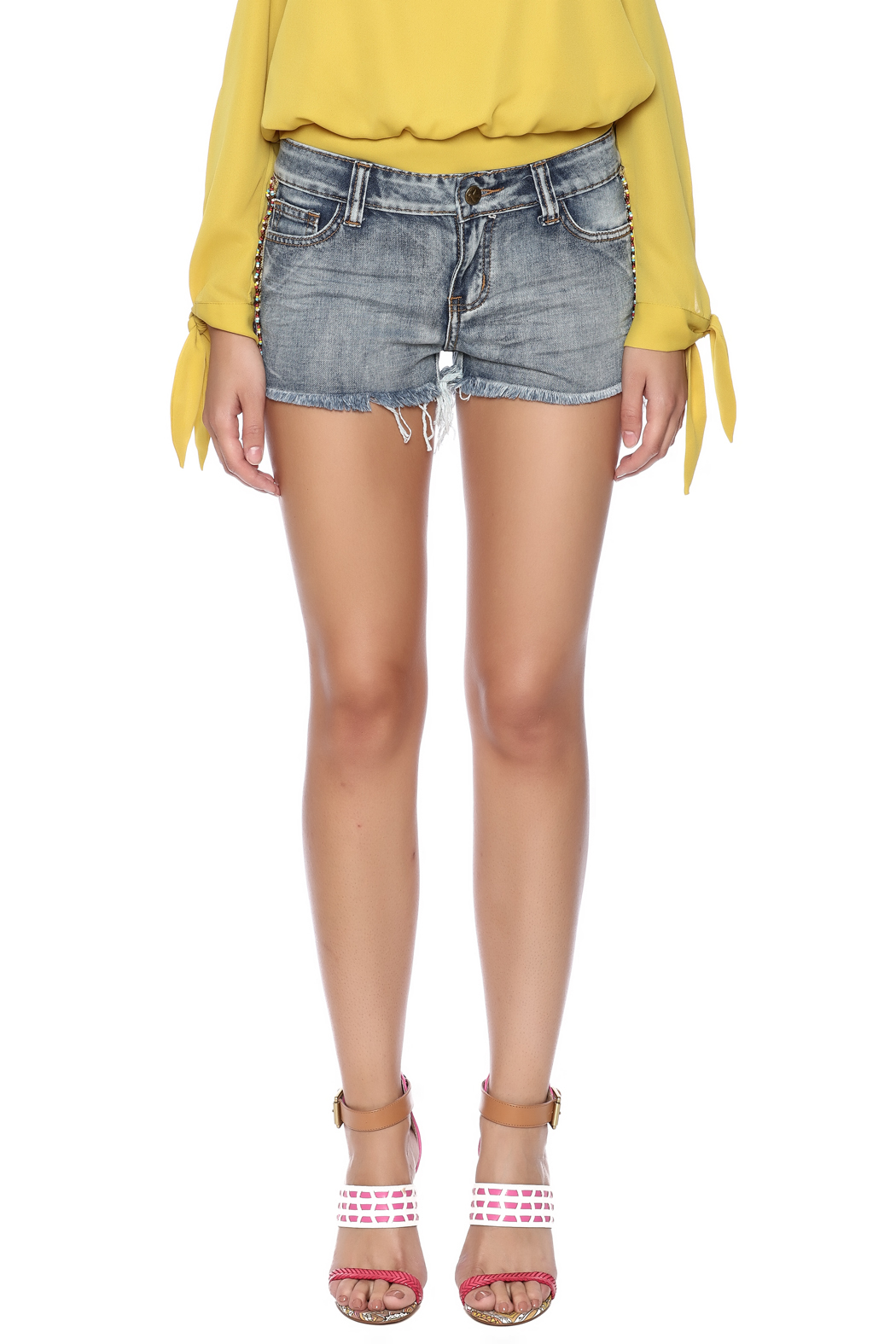 Others Follow  Willow Cut Off Shorts - Side Cropped Image