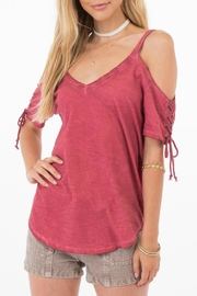 Others Follow  Clove Lace-Up Tee - Product Mini Image