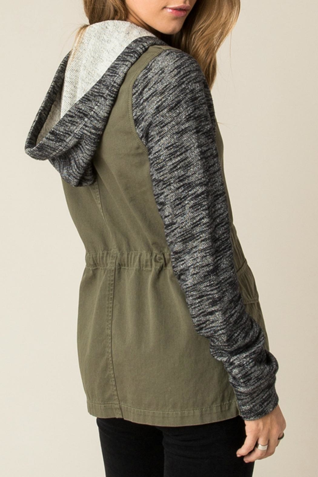 Others Follow  Contrast Cargo Jacket - Back Cropped Image