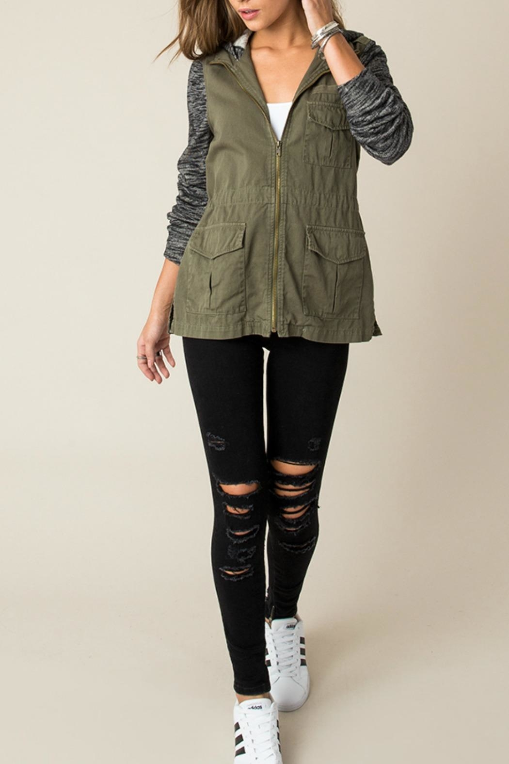 Others Follow  Contrast Cargo Jacket - Main Image