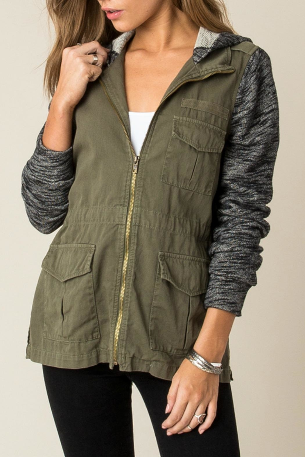 Others Follow  Contrast Cargo Jacket - Front Full Image