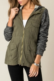 Others Follow  Contrast Cargo Jacket - Front full body