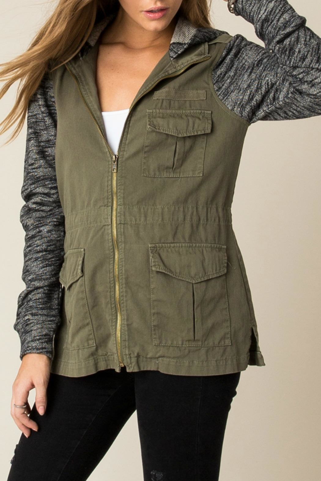 Others Follow  Contrast Cargo Jacket - Side Cropped Image