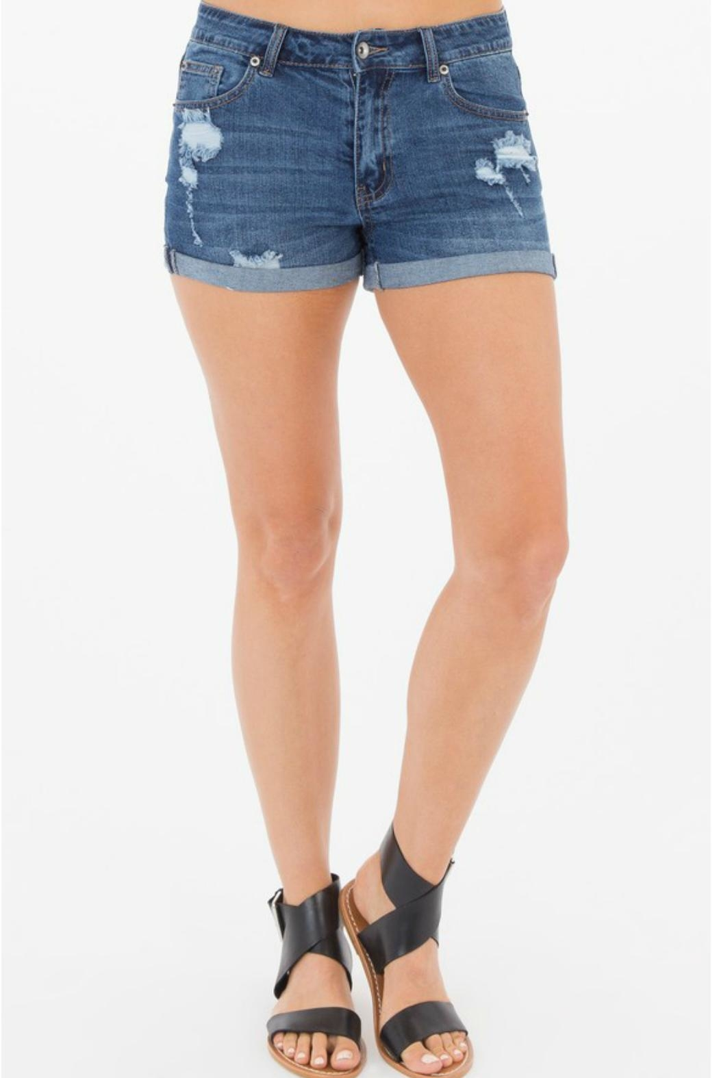 Others Follow  Cora Distressed Shorts - Main Image