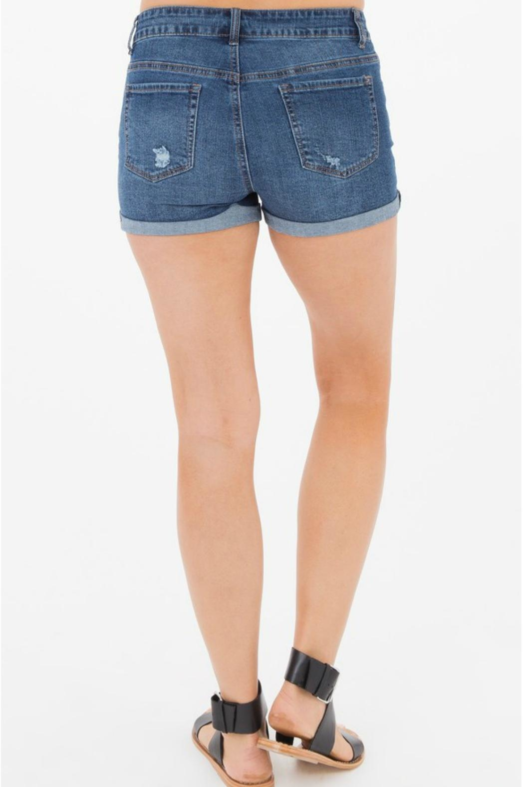 Others Follow  Cora Distressed Shorts - Side Cropped Image