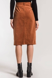 Others Follow  Corduroy Midi Skirt - Back cropped