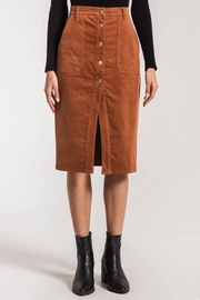 Others Follow  Corduroy Midi Skirt - Product Mini Image