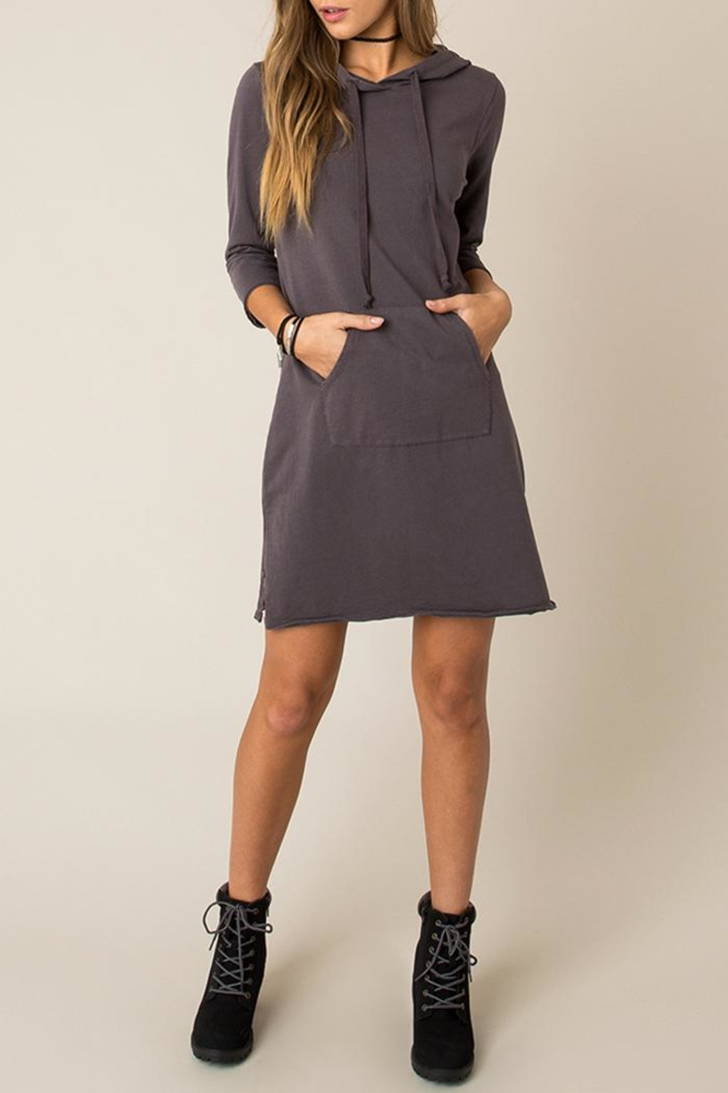 Others Follow  Cozy Sweatshirt Dress - Side Cropped Image
