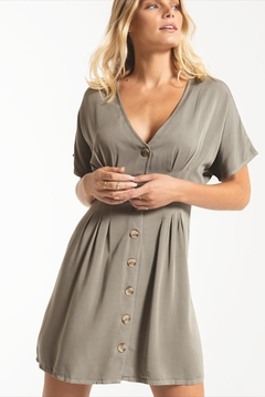 Others Follow  Darted Button-Front Dress - Alternate List Image