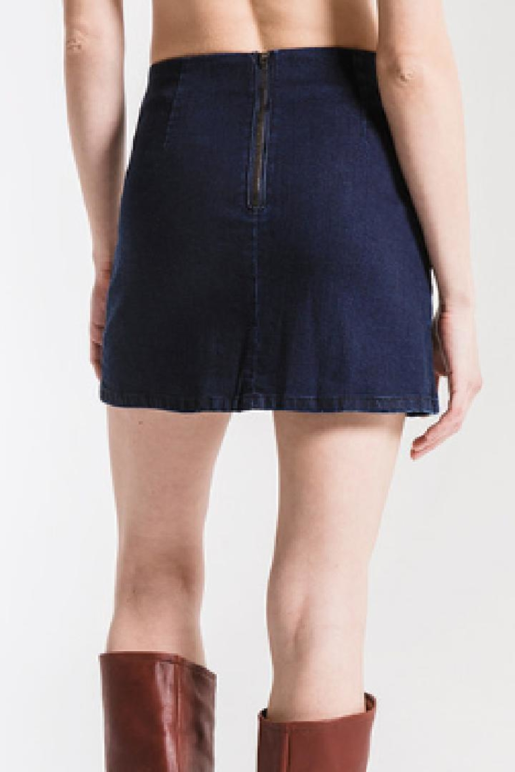 Others Follow  Denim Mini Skirt - Side Cropped Image
