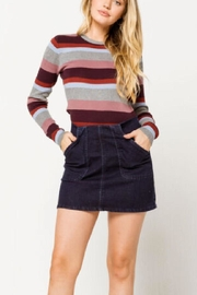 Others Follow  Denim Mini Skirt - Front cropped