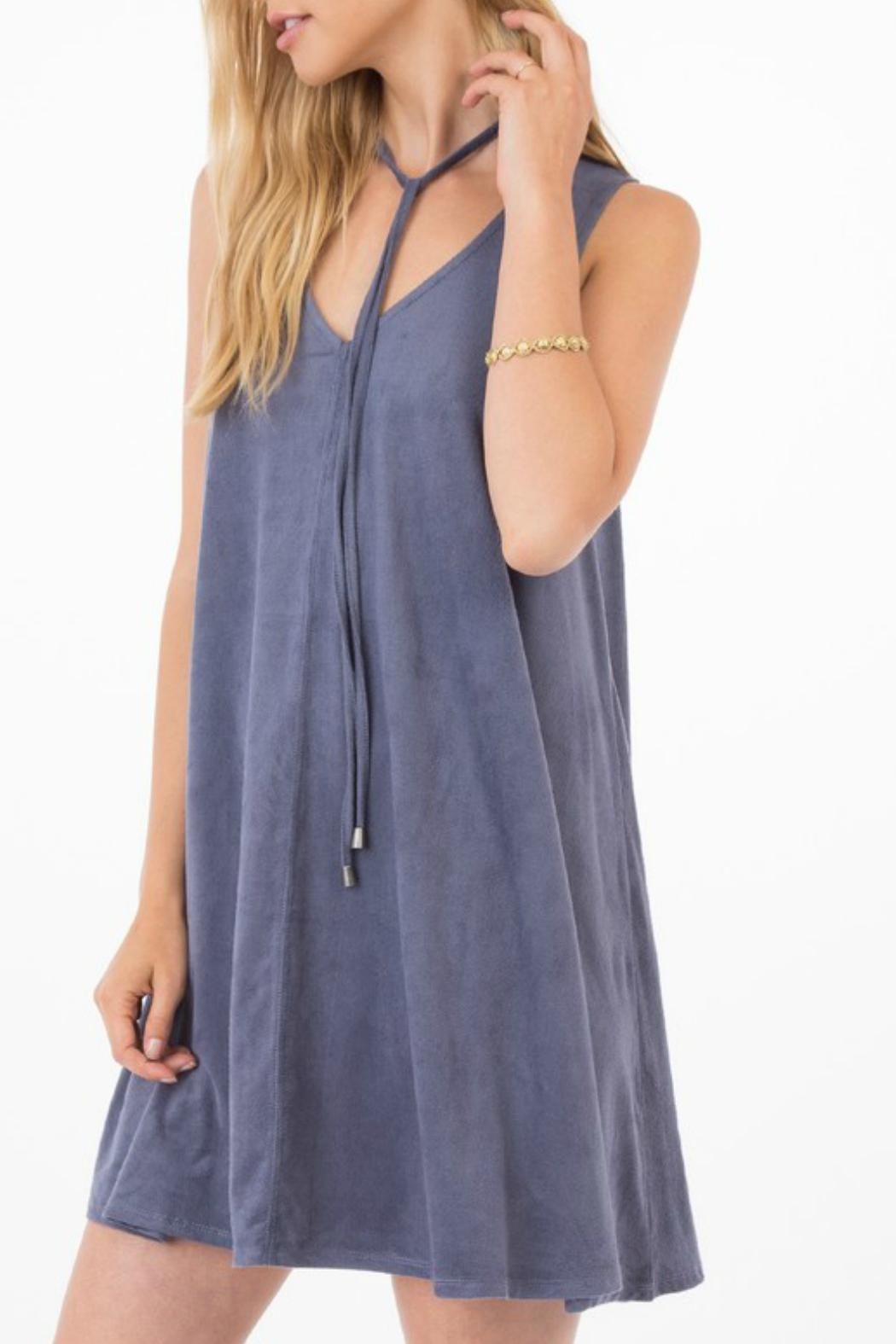 Others Follow  Elowan Suede Dress - Front Full Image