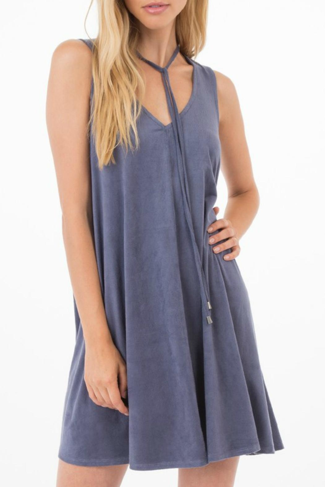 Others Follow  Elowan Suede Dress - Front Cropped Image