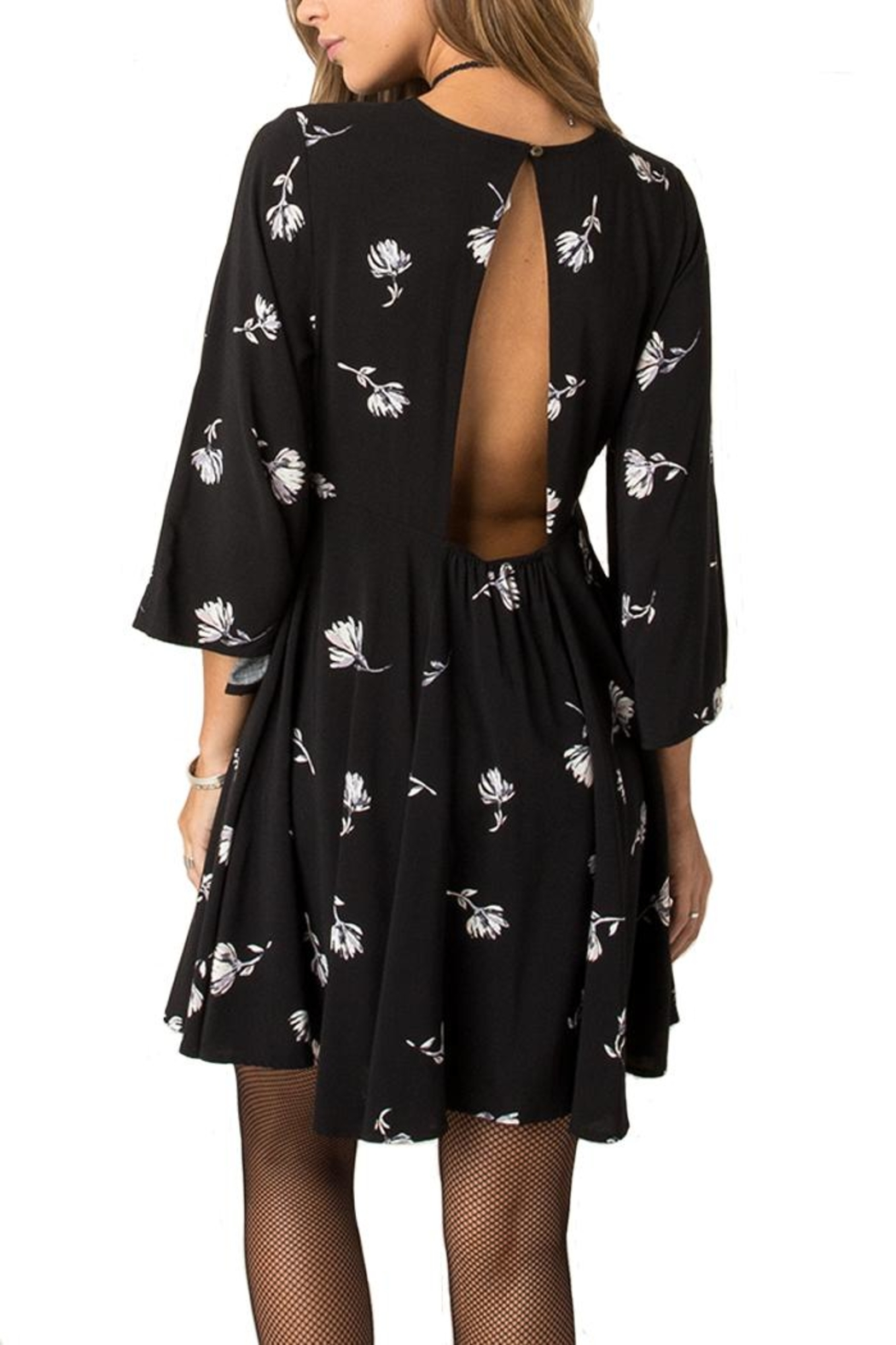 Others Follow  Floral Key Hole Dress - Front Full Image