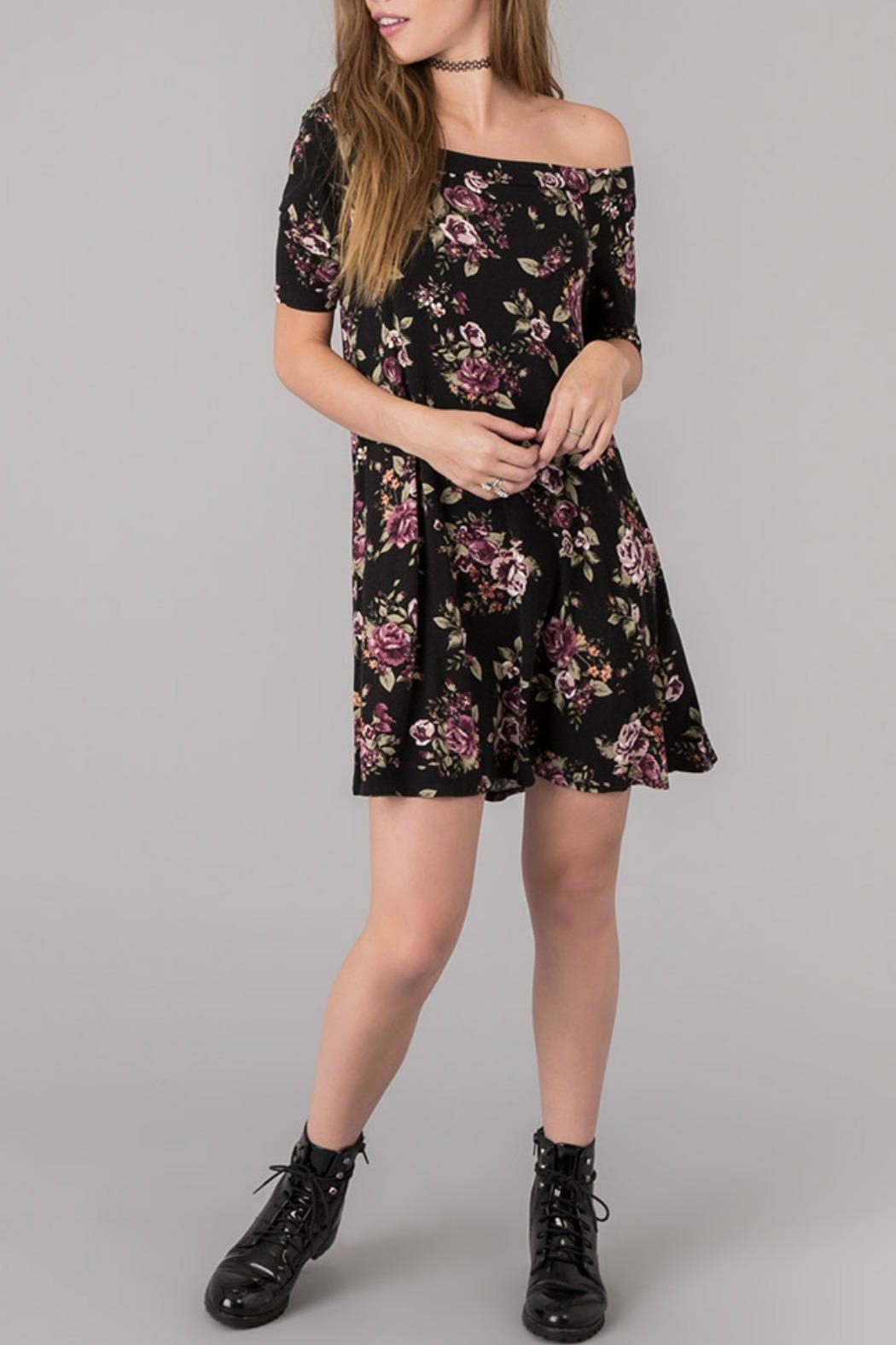 Others Follow  Floral Off Shoulder Dress - Main Image