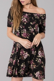 Others Follow  Floral Off Shoulder Dress - Front full body