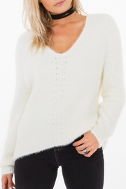 Others Follow  Fuzzy V-Neck Sweater - Product Mini Image