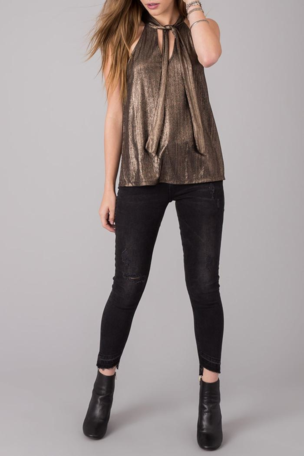 Others Follow  Gold Foil Top - Back Cropped Image