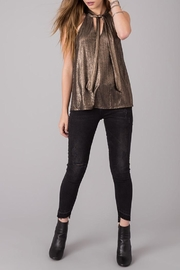 Others Follow  Gold Foil Top - Back cropped