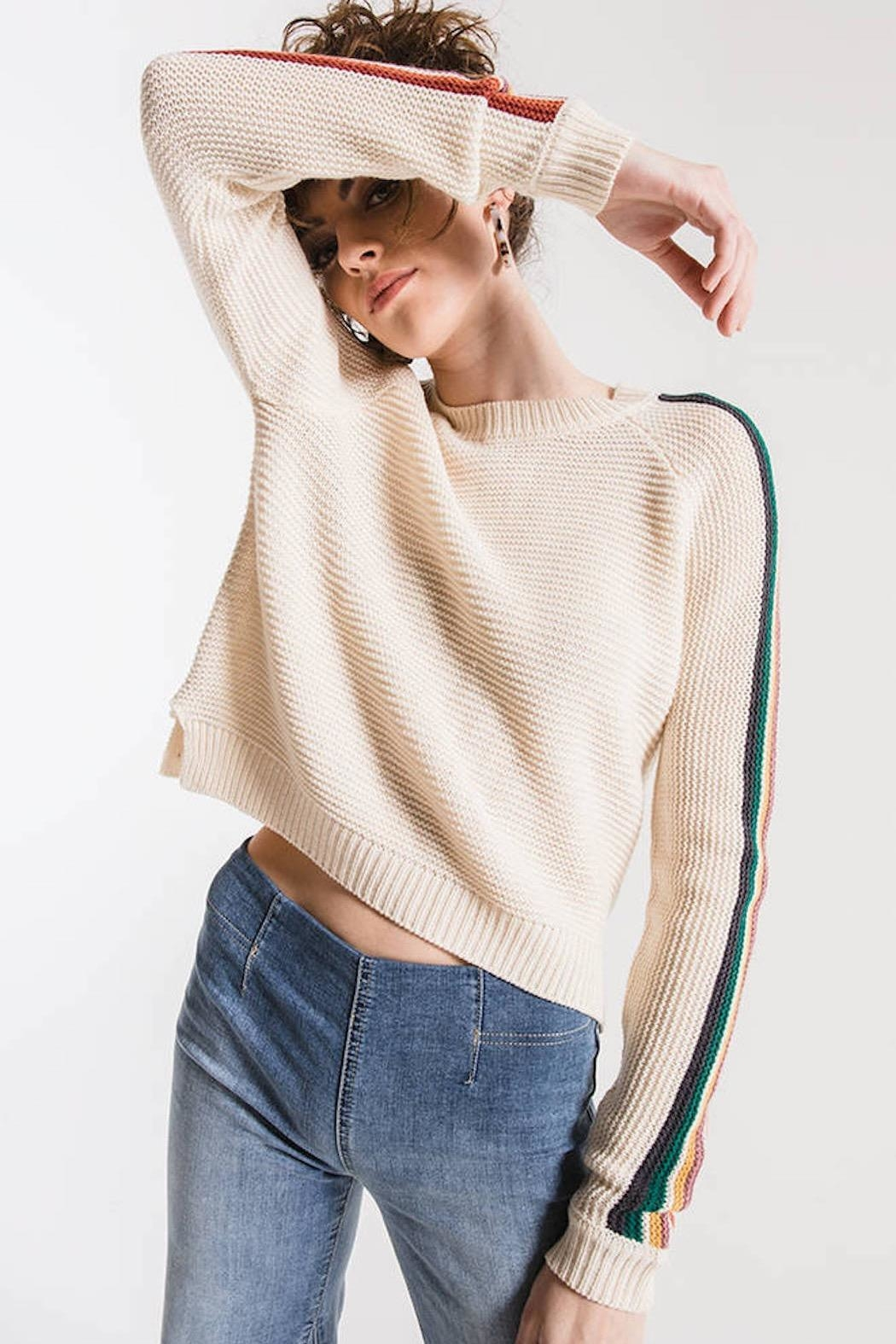 Others Follow  Hawkin Sweater - Front Full Image