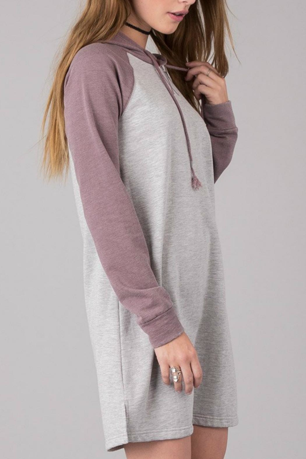Others Follow  Hooded Sweatshirt Dress - Front Full Image