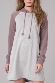 Others Follow  Hooded Sweatshirt Dress - Front cropped