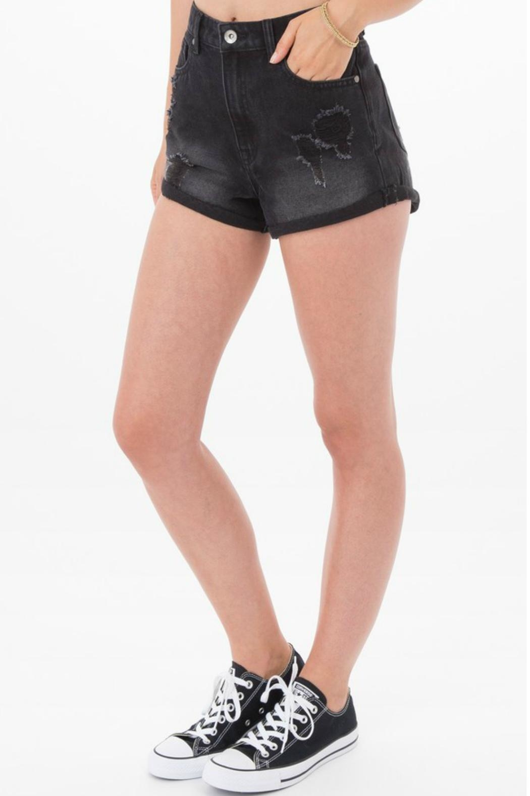 Others Follow  Janis Distressed Shorts - Front Full Image