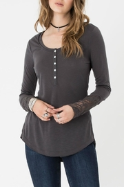 Others Follow  Lace Sleeves Top - Product Mini Image