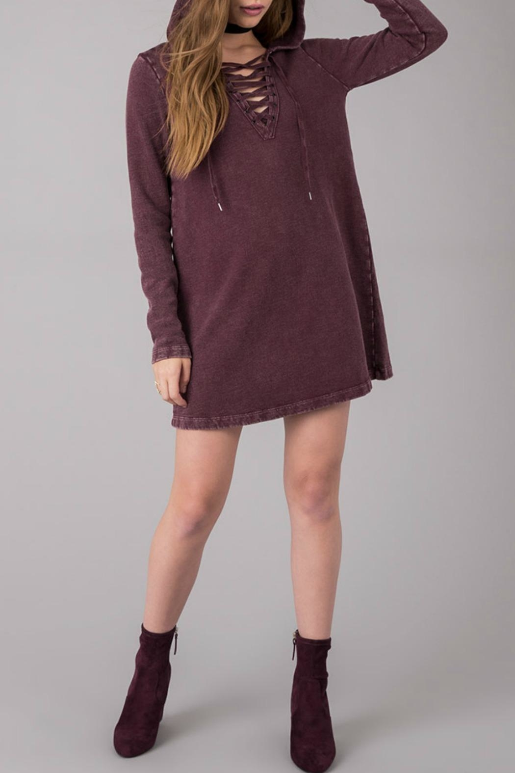 Others Follow  Lace Up Dress - Side Cropped Image