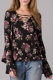 Others Follow  Lace Up Floral Shirt - Product Mini Image