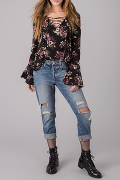 Others Follow  Lace Up Floral Shirt - Alternate List Image