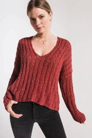Others Follow  Leony Textured Sweater - Front cropped