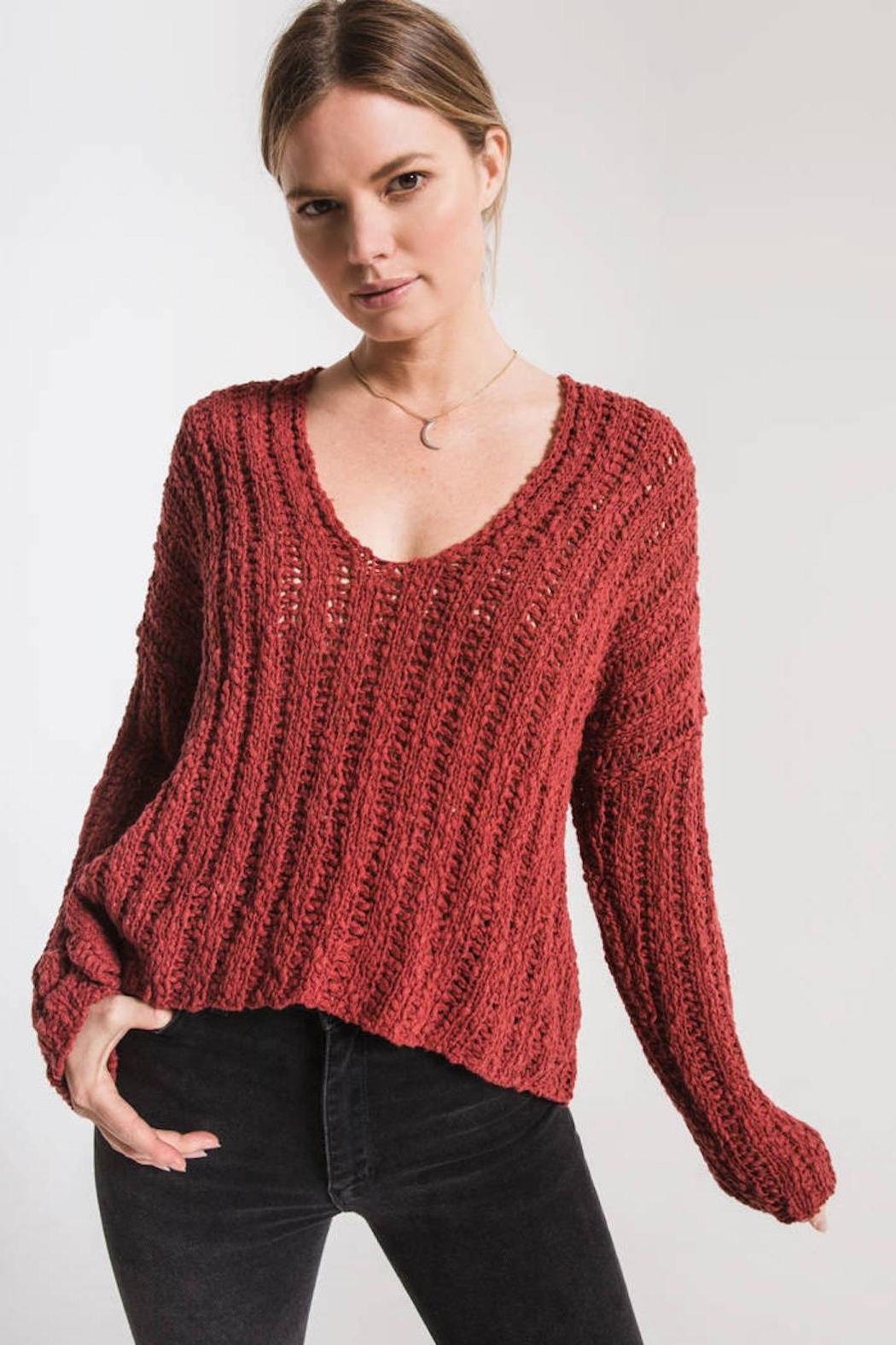 Others Follow  Leony Textured Sweater - Main Image